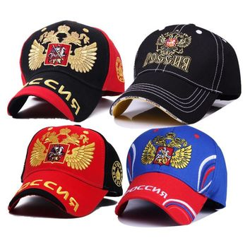 Trendy Winter Jacket Fashion n Emblem Embroidery Baseball Cap Man Woman Sochi Bosco Snapback Hat Double-headed Eagle Hat Cap Sunbonnet YY211 AT_92_12