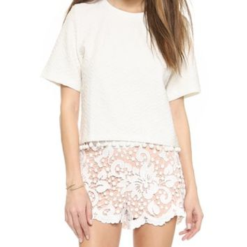 ENGLISH FACTORY Pom Pom Top