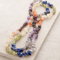 Chakra Gemstone Nugget Power Necklace
