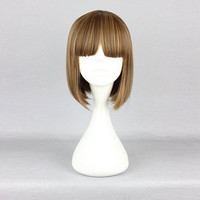 Short Straight Cosplay Costume Wig High-Temperature Resistance Synthetic Hair