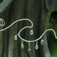 Raindrops on the Wave OOAK Necklace