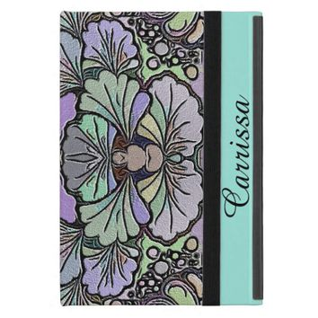 Old world purple pansy tile print ipad mini sleeve iPad mini cover