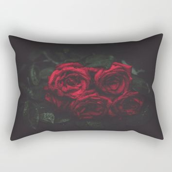 Roses Rectangular Pillow by Mixed Imagery