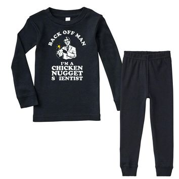 chicken nugget scientist Infant long sleeve pajama set