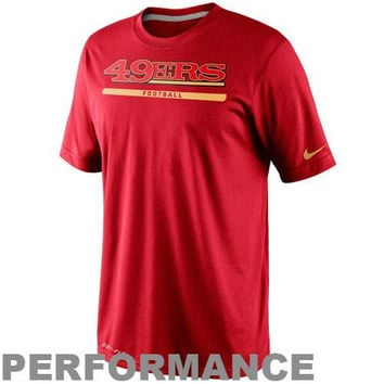 Nike San Francisco 49ers Dri-FIT Legend Elite Font Sideline Performance T-Shirt - Scarlet