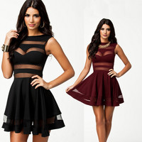 New summer mesh sexy Casual dresses