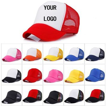 Custom LOGO Design Baseball Cap Mesh Adjustable Hat