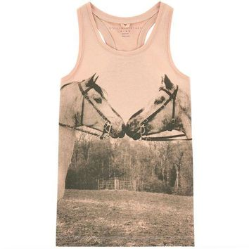 NOV9O2 Stella McCartney Girls Horse Print Tank Top