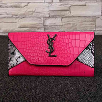 YSL Women Fashion Leather Buckle Wallet Purse