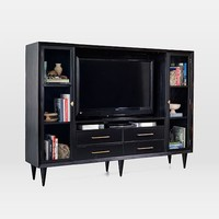 Alexa Burnished Media Wall Storage