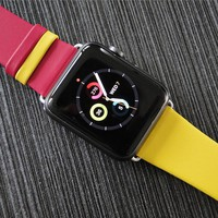 Dual Colors Leather Wrist Strap