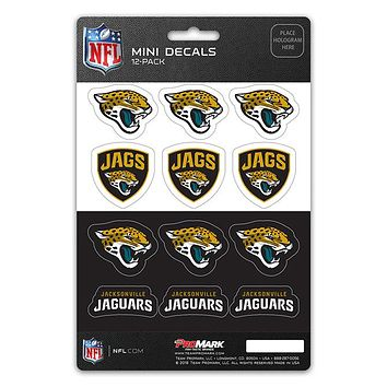 Jacksonville Jaguars Decal Set Mini 12 Pack