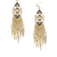 Textured Frige Earring