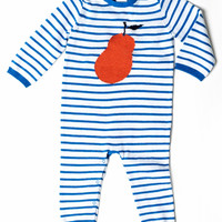 Egg -  Pear Striped Knit Layette Blust Blue Stripe - P4CK4370 - FINAL SALE