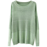 Ribbed Pullover Knitted Sweater