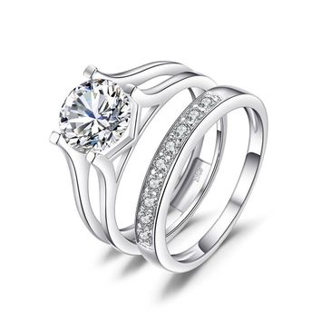 Anniversary Wedding Band, 2ct, Solitaire, Engagement Ring