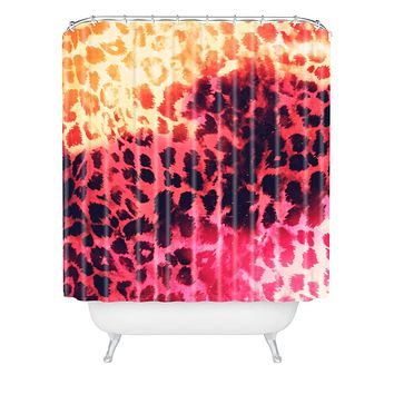 Caleb Troy Leopard Storm Fire Shower Curtain