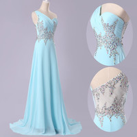 FORMAL BEADED Formal HOMECOMING Bridesmaid Gown Evening Prom Long Party Dresses
