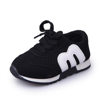 New Spring Children Sport Sneakers Kids Soft Letter Breathable Running Shoes Girls Boys Loafers Toddler Shoes Enfant Chaussure