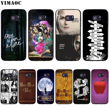 YIMAOC Once Upon A Time Soft Silicone Case for Samsung Galaxy S6 S7 Edge S8 S9 Plus A3 A5 A6 Note 8 9