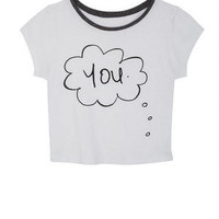 Thinking Of You Tee - White