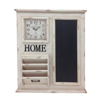 Clock And Storage Chalkboard By Crestview Collection Cvtck1092