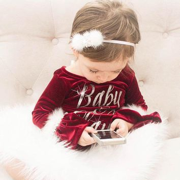Fancy Baby Claus Romper