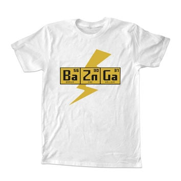 BAZINGA The Big Bang Theory For T-shirt Unisex Adults size S-2XL Black and White