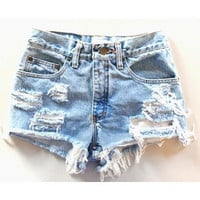 Levi Brand Distressed High waisted shorts