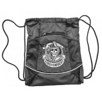 Sons of Anarchy S.O.A. Reaper Logo Black Cinch Drawstring Bag