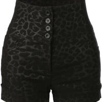 LE3NO Womens High Waisted Printed Sailor Shorts with Stretch (CLEARANCE)