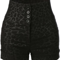 Womens High Waisted Printed Sailor Shorts with Stretch