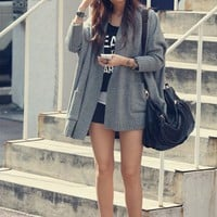 Grey Free Size Women/Girl Loose Bat-wing Sleeves Cardigan/Sweater/Coat@T629g - $15.95 : DressLoves.com.