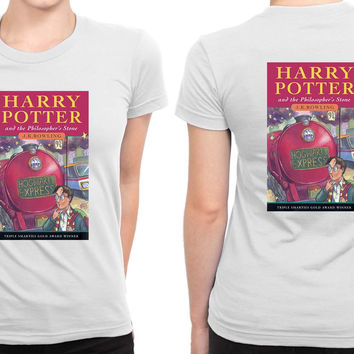 Harry Potter And The Philosophers Stone Book Cover B 2 Sided Womens T Shirt