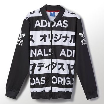 Adidas Originals Women's Typo Track Jacket ALL SIZES FREE SHIPPING AA2493