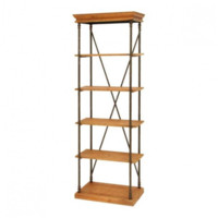 Metal + Wood Shelving Unit