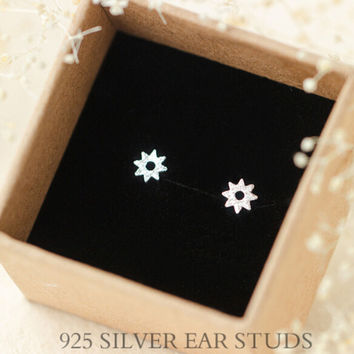 womens girls retro cute floral earrings 925 sterling silver + free gift box + free shipping 27