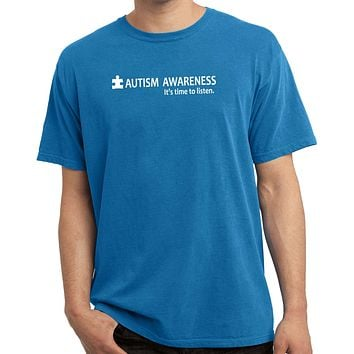 Buy Cool Shirts Autism Awareness Time to Listen Pigment Dyed Shirt