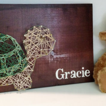String Art Nursery Turtle