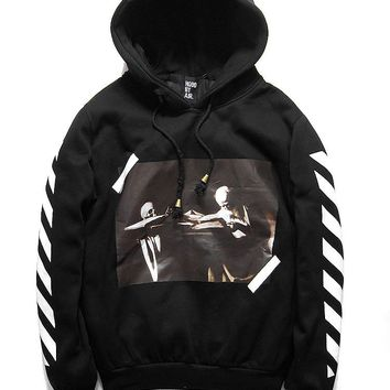 OFF WHITE Pullover Hats Winter Black Hoodies Jacket [11501028236]