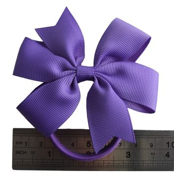 2 pcs Pinwheel Hair Bow with Elastic Bands 3.5'' Hairbow Hair Accessories Kids PonyTail Holder Hair bands Dovetail bows