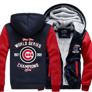 760fc296936 EXCLUSIVE CHICAGO CUBS CHAMPIONSHIP HOODIE JACKET -
