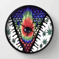eye trip Wall Clock by Natasha Marie