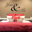 Vinyl Wall Decal Sticker You & Me #1464