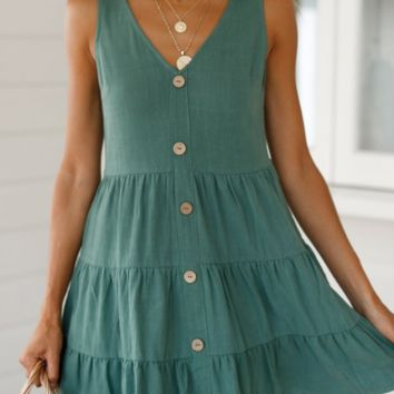 Fashion women's new V-neck dress