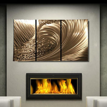 Metal Wall Art Abstract Decor Contemporary Modern Sculpture Hanging