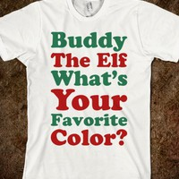 Buddy The Elf What's Your Favorite Color