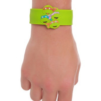 Teenage Mutant Ninja Turtles Group Die-Cut Rubber Slap Bracelet