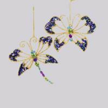 Dragonfly & Butterfly Ornament