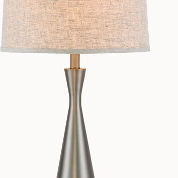 Brio 1-Light Table Lamp, Vintage Nickel Finish